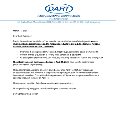 Dart- April 2021