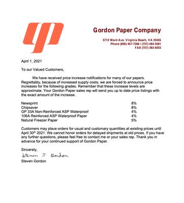 Gordon- April 2021