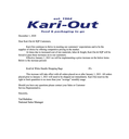 Kari Out- January 2021